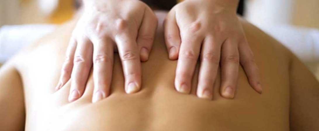 Massaging the back