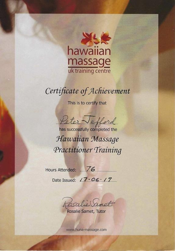 Hawaiian Massage Practitioner Certificate